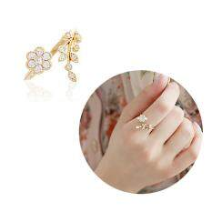 B-F Mini Adjustable Rings Flower Ring Mini Finger Women Rings Fashion Wedding Jewelry