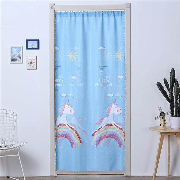 Nordic simplicity Japanese style Long Door Curtains Bedroom Room Dividers Bathroom Curtain Decoration Modern kitchen cloth Door Curtain With rod