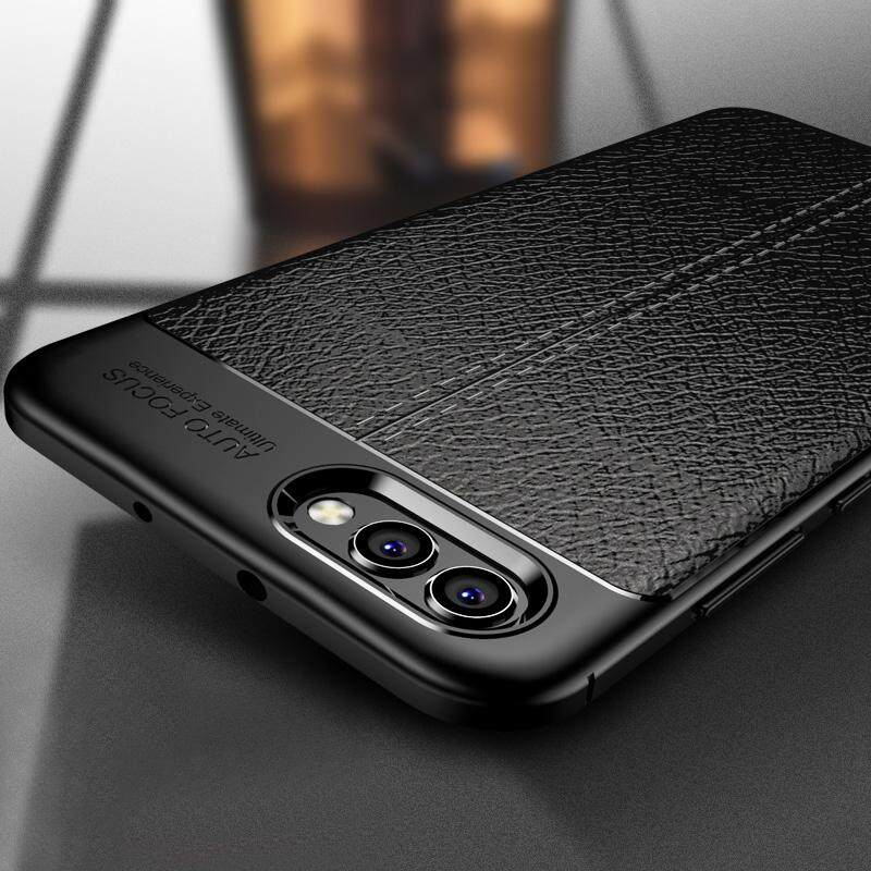 For Huawei Honor View 10 Shockproof Rubber TPU Leather Slim Back Cover Camera Protect V10 Phone