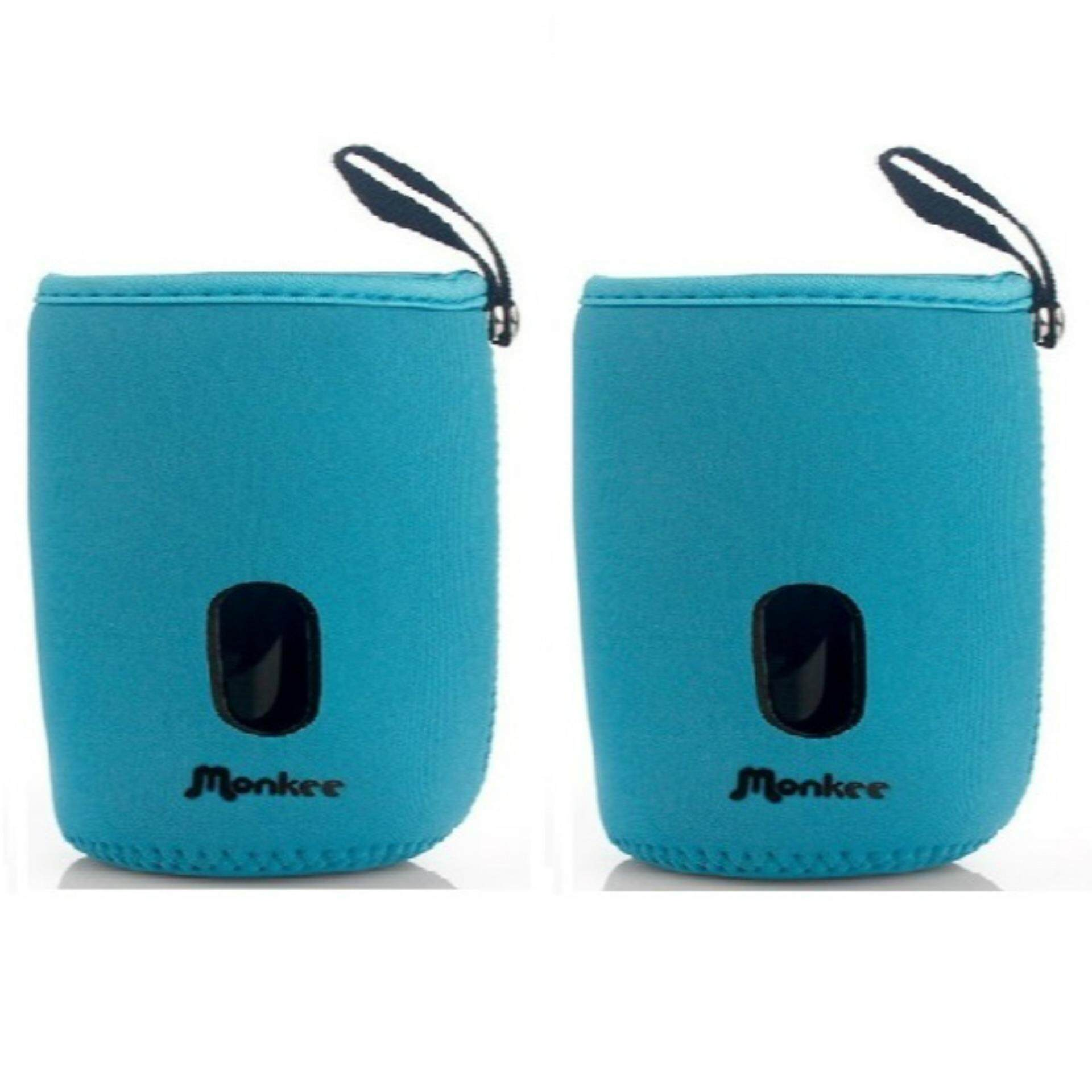 Set of 2 Baby Bottle Warmer Pouches: Fits 160ml Bottles (2 Short) - Blue