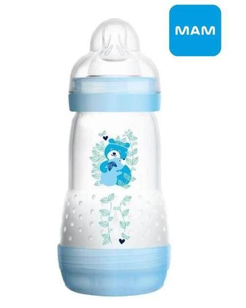 MAM Anti-Colic Bottle 9oz 260ml Boy Blue Single Loose Pack