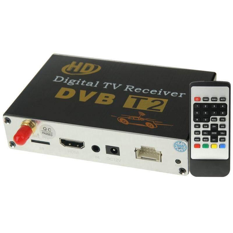 Kecepatan Tinggi 90 Km/h H.264/AVC MPEG4 Ponsel Mobil Digital DVB-T2 Penerima TV, cocok untuk Eropa/Singapura/Thailand/Afrika Dll. Pasar (Hitam)