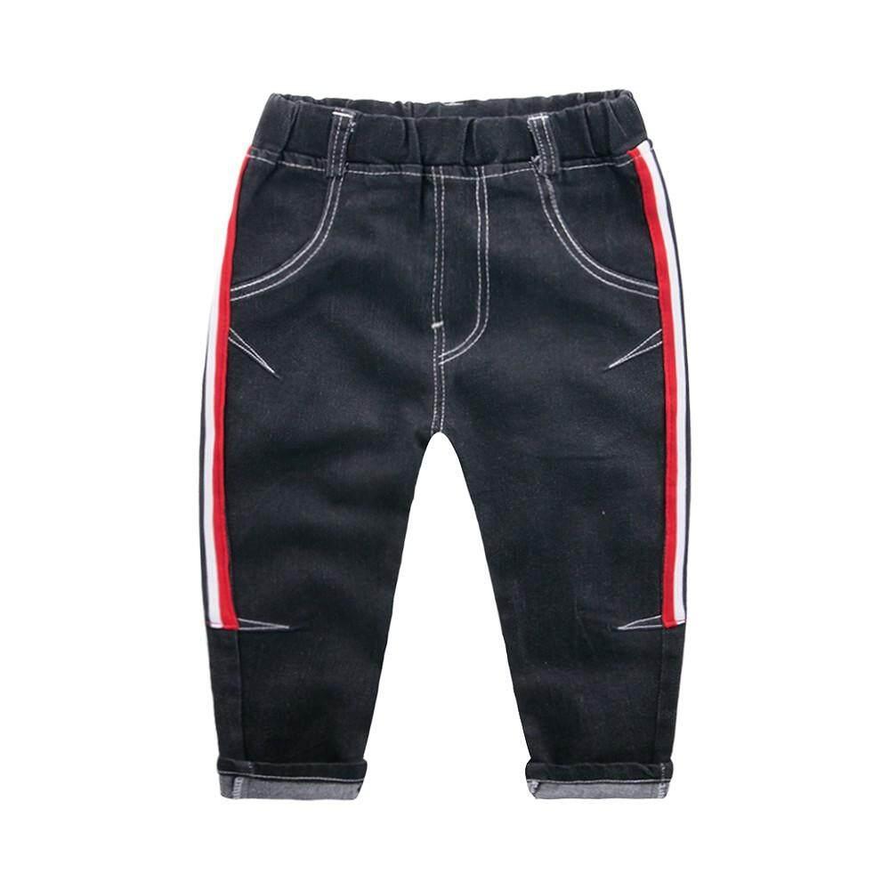 e451cb182eb Tideshop Children Baby Kids Boys Girl Stripe Printed Casual Long Pants  Jeans Trousers