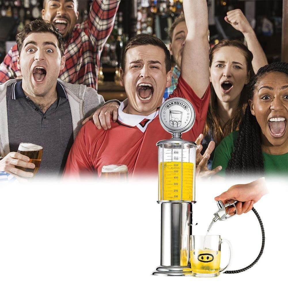 OrzBuy Liquor Decanter Beer Mini Bar Accessories Gas Station Style 35 OZ Liquid Drinking Separate Tools Inverted Wine Rack Water Pump Dispenser Machine (Single) - intl