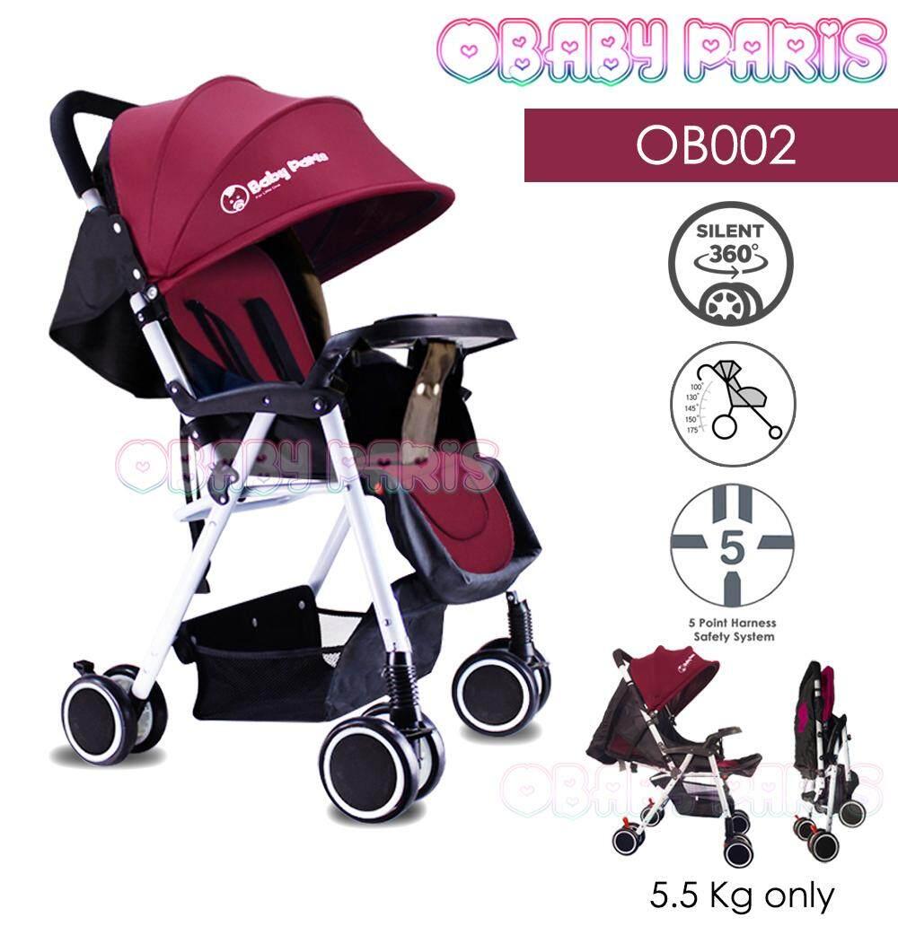 (RAYA 2019) OBaby Paris OB002 Premium Light Weight Foldable Stroller (1 Year Warranty)