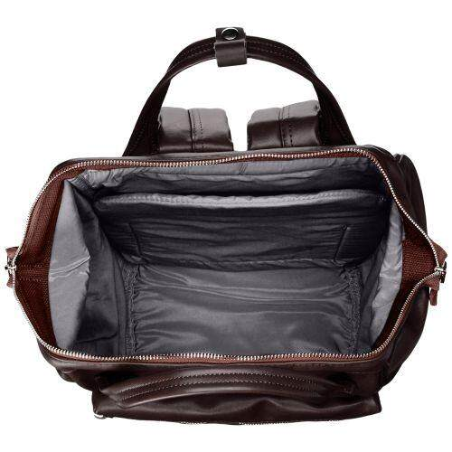 Features Anello At B1519 Premium Hinge Clasp Backpack Dark Brown Dan ... 296814899f
