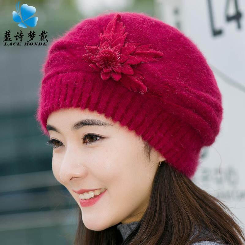 Topi Beanie Korea Fashion Style Musim Gugur Dan Dingin Topi Rajutan Manis Tambah Beludru (283