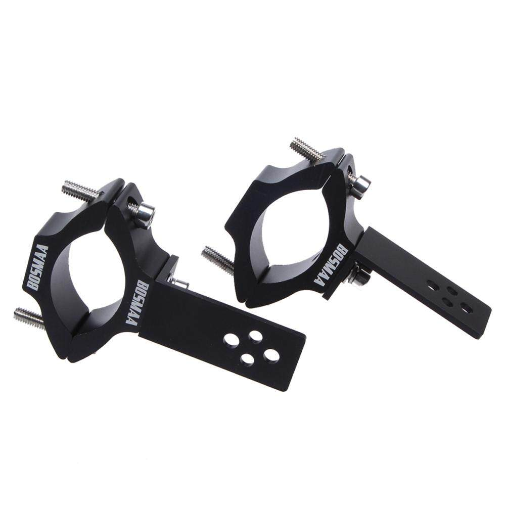Bosmaa Tg26 Aluminium Alloy Motorcycle Led Light Electric Car Light Relocation Fork Clamps Mount Light Holder Suitable For Round Pipe With A Aperture Ranging From 22mm To 54mm By Aokaila.