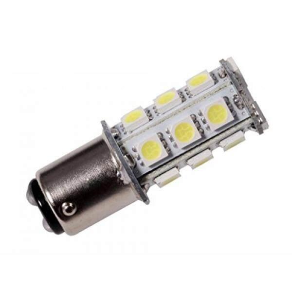 GRV Ba15d 1142 High Bright Car LED Bulb 18-5050SMD AC//DC12V-24V Warm White Pack of 10