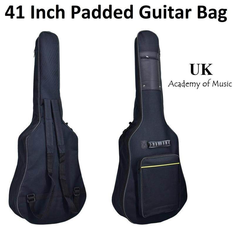 41 inch Padded/Sponge Guitar Bag Double Shoulder Straps with 2 Pockets Malaysia