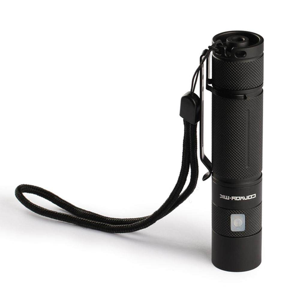 Convoy S9 CREE XML2 LED White Light Micro USB 4-Mode Flashlight - Black