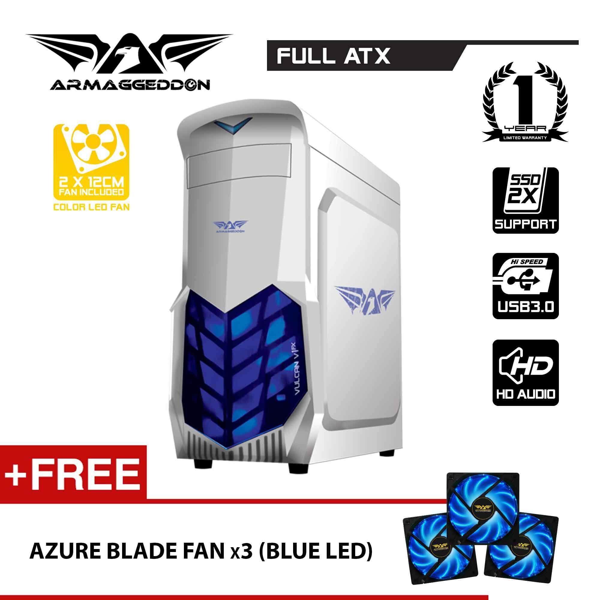 Vulcan V1x Full ATX Gaming PC Chassis Free LED Fan ( x3 ) By Armaggeddon Malaysia