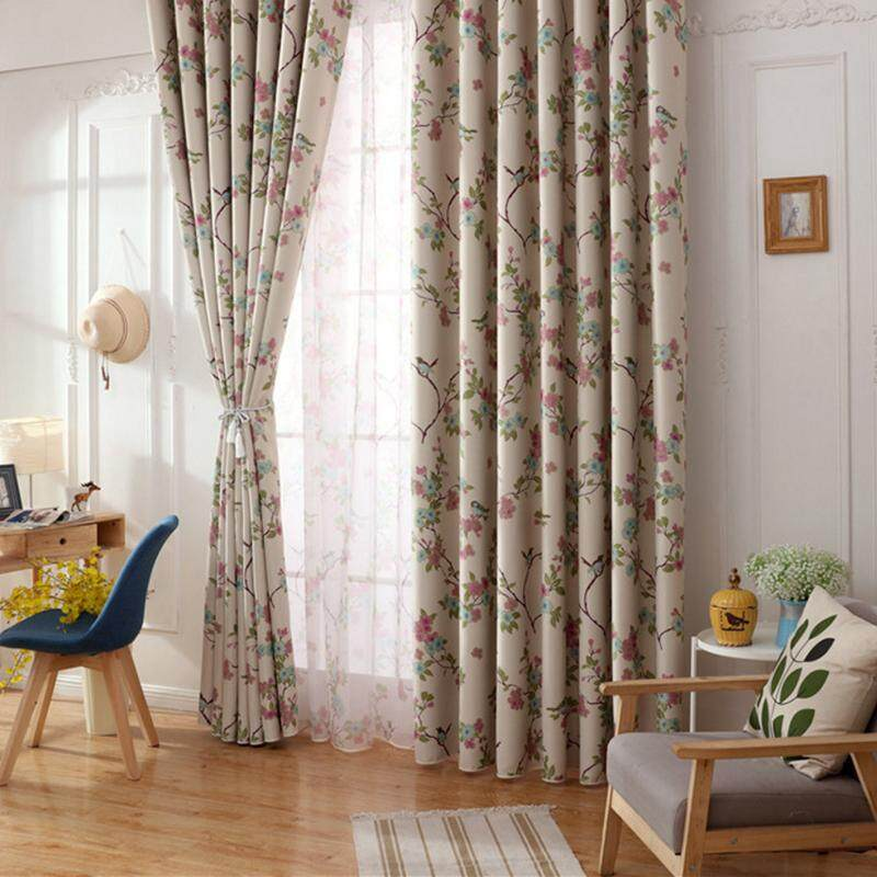 [OrangeHome] 200*230 CM (1 pc) Blackout Curtain Drape Hook Window Room Bedroom Balcony Off Yellow A01-XQ - intl