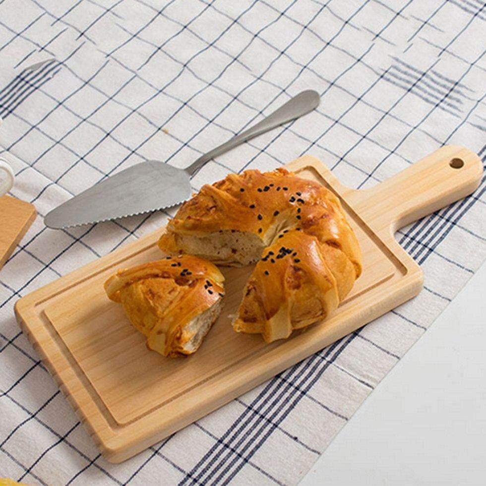 Goft Kayu Memotong Blok dengan Pegangan untuk Roti Western-Gaya Food Dessert Sushi Kayu Warna