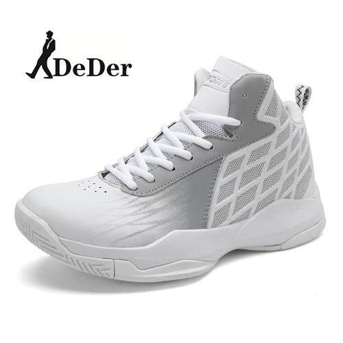 DeDer New Style High Top Basketball Sneakers Mens Authentic Basketball Shoe Leather Black Blue Basketball Shoes - intl
