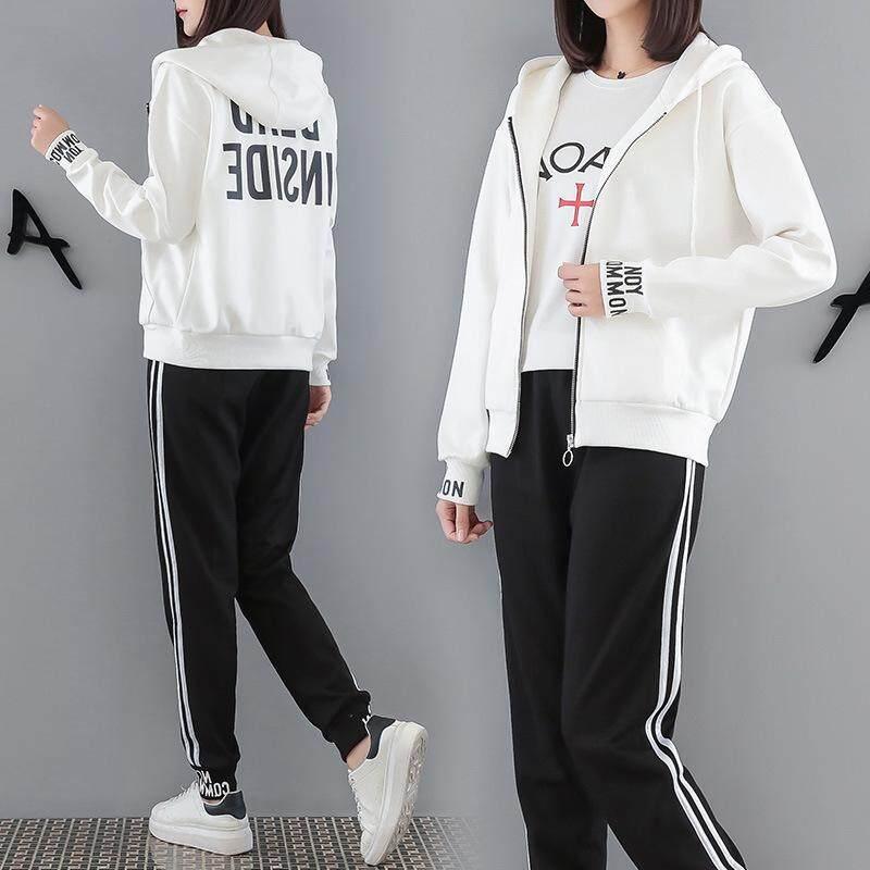 Awal Musim Gugur Versi Korea Baru Celana Panjang, Leisure Fashion Setelan Olahraga Wanita Longgar Dua