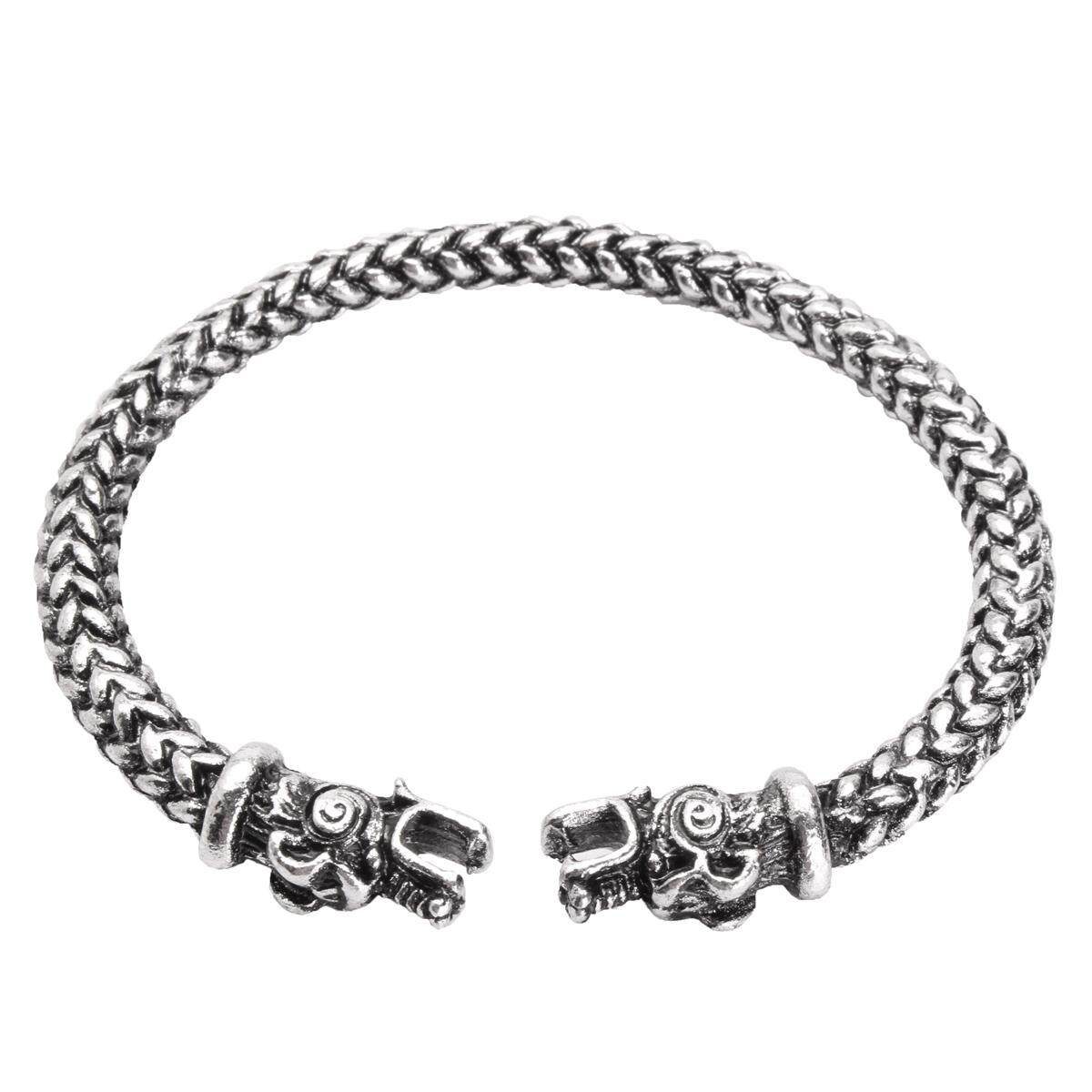 Viking Dragon Head Bracelet Norse Mythology Jormungandr Beast Bangle Men Jewelry By Freebang.