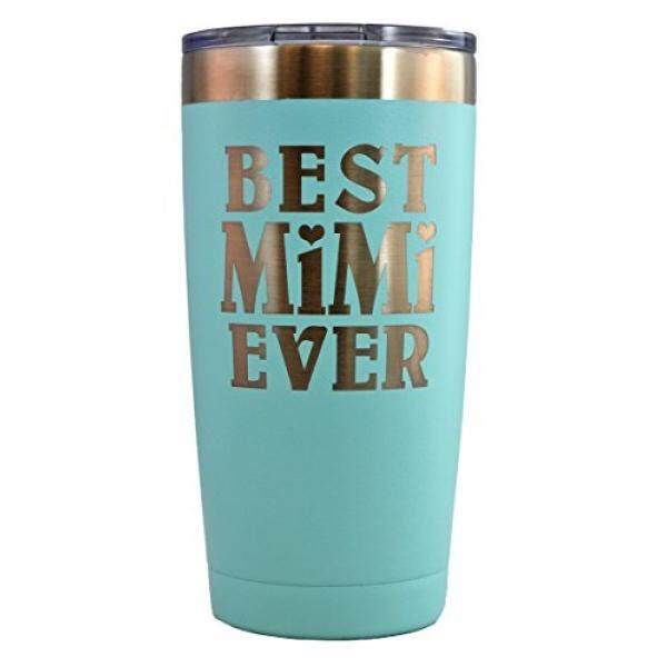 Tumblers MIMI GIFT – Engraved BEST MIMI EVER Stainless Steel Tumbler 20 oz Premium Quality Vacuum Insulated Travel Coffee Mug HotCold Drinks Grandma Mother's Day Christmas Birthday