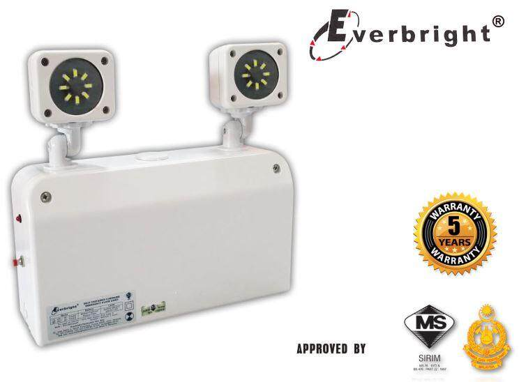 EVERBRIGHT 2 LED HEAD WALL MOUNT EMERGENCY LIGHT