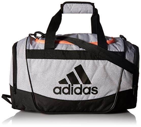 Adidas Defender II Kecil Tas Duffel, Satu Ukuran Putih Grip/Hitam/Sun Glow-Intl