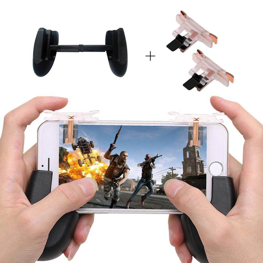 Aolvo Upgraded Version PUBG ROS And Mobile Phone Games Shortcut Key Joystick Game Controller With Phone Handle