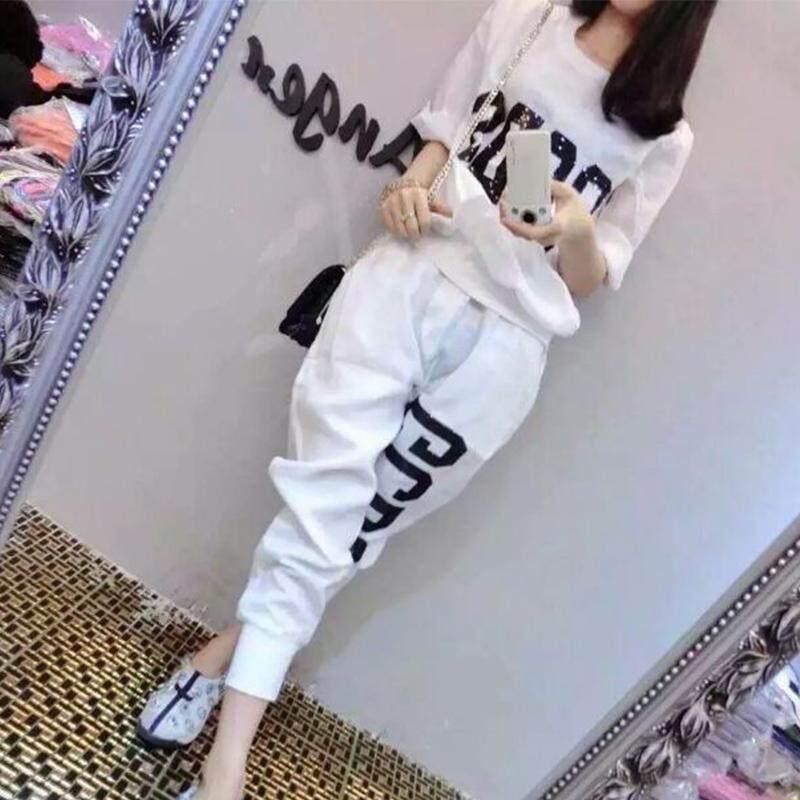 2017 Pakaian Musim Panas Model Baru Baju Wanita Modis Longgar Olahraga Kasual Pakaian Set Musim Panas Set Dua Potong Gaya Korea Pasang Musim Panas By Koleksi Taobao.
