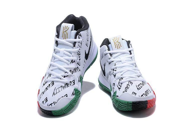 Putih Merah Resmi sneaker All-Star MVP Kyrie_Irving 4 Bulan Sejarah Hitam (BHM) sepatu basket Pria Gaya Baru Ukuran = 40-45 (Hanya Menjadi Anda)