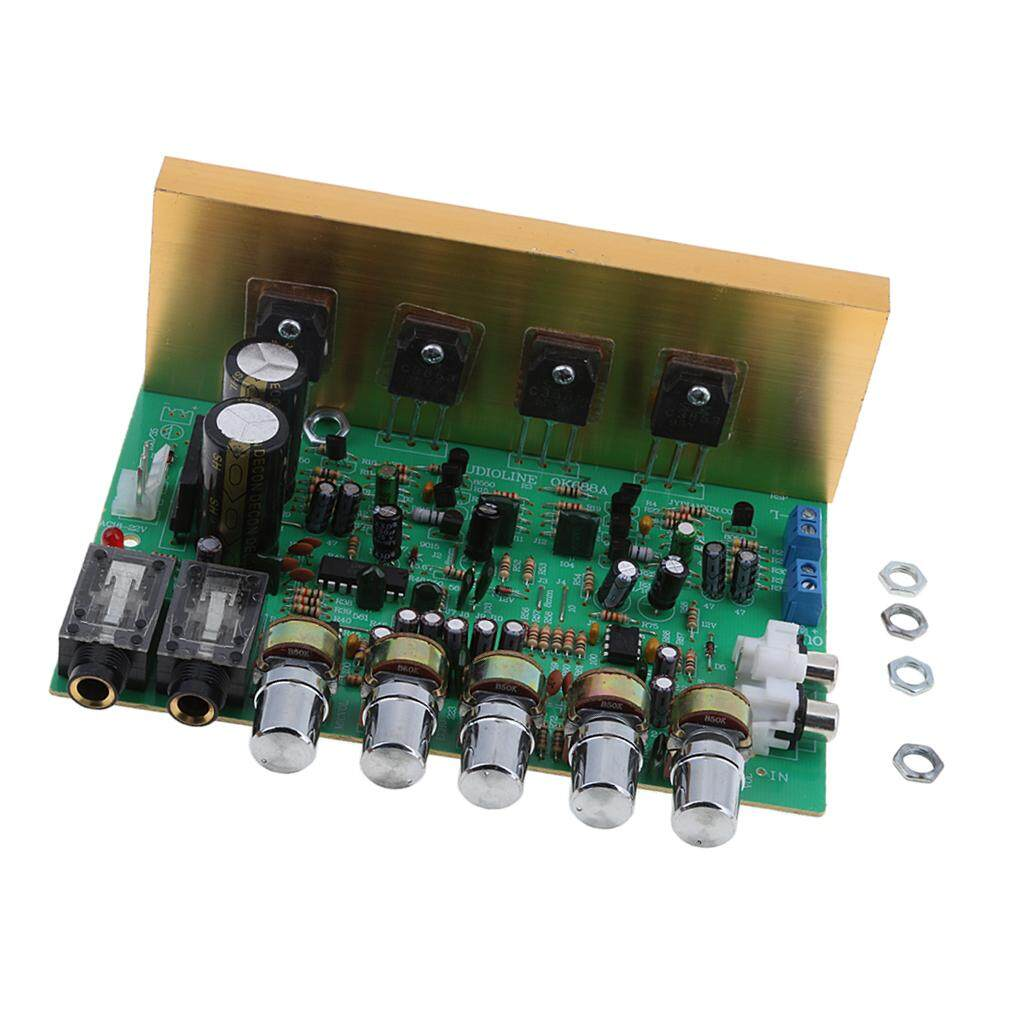 Miracle Shining 2 Channel 100W+100W Stereo Power Amplifier Board Modules  with Knob Button