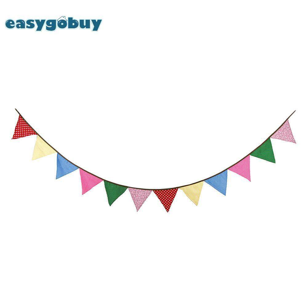12-side 3.2m Triangular Flags Bunting Banners Pennant Birthday Party Decor