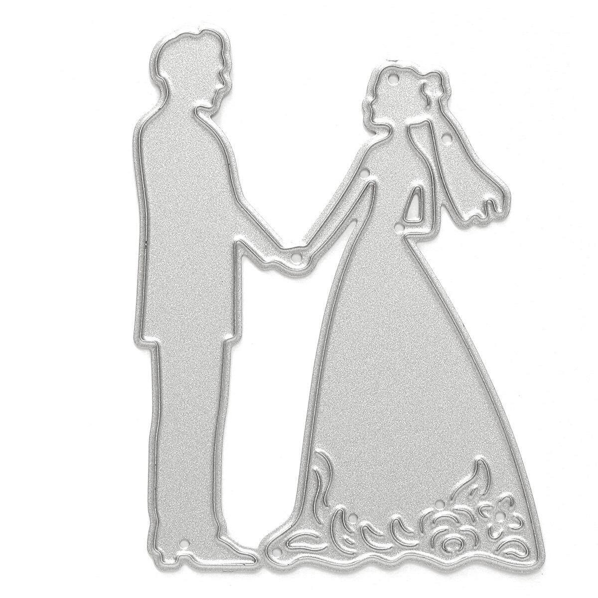 Cinta Potongan Logam Contoh Scrapbooking DIY Hiasan Album Kertas Kartu Dekorasi Pernikahan-Intl