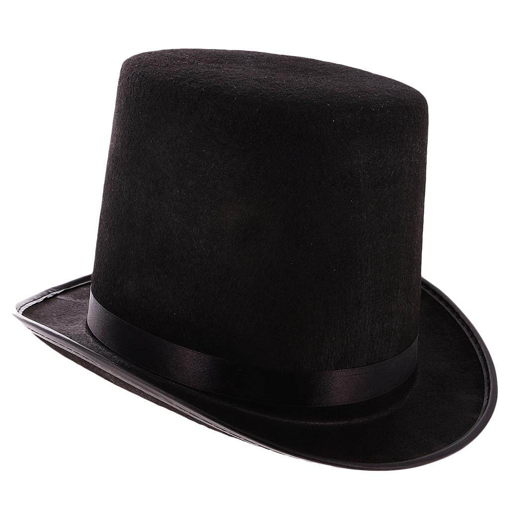Fenteer Tall Black Top Hat Victorian Steampunk Magician Ringmaster Costume  Props c88ff73fcce
