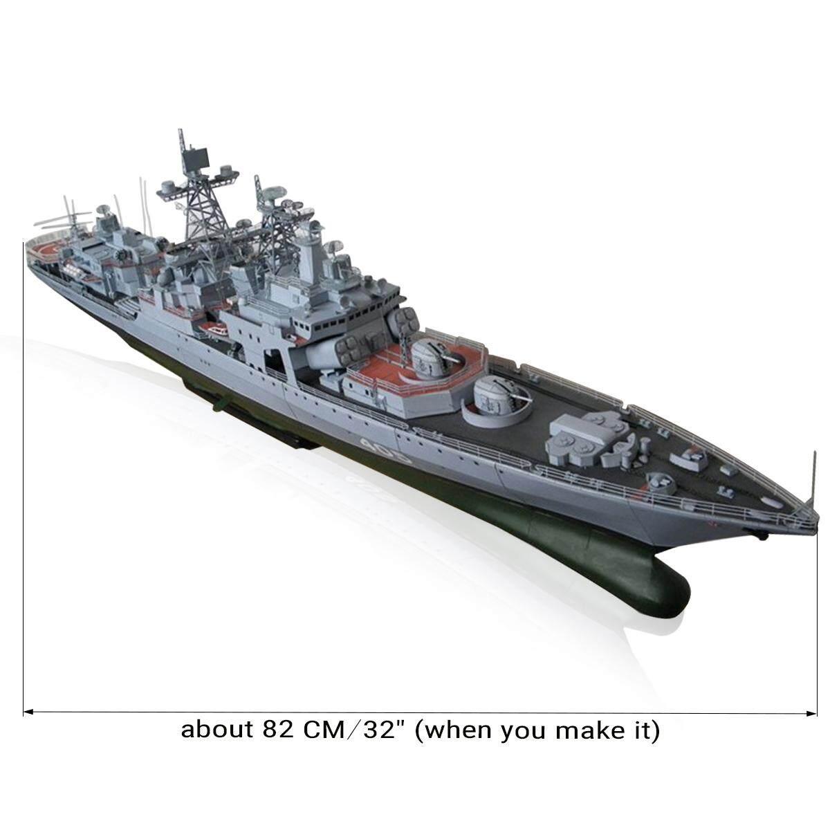 1/200 Lớn 3D Mô Hình Giấy Thiết Giáp Hạm Tàu Quân Sự TỰ LÀM Đồ Chơi Mô Phỏng Cao Có Giá Ưu Đãi