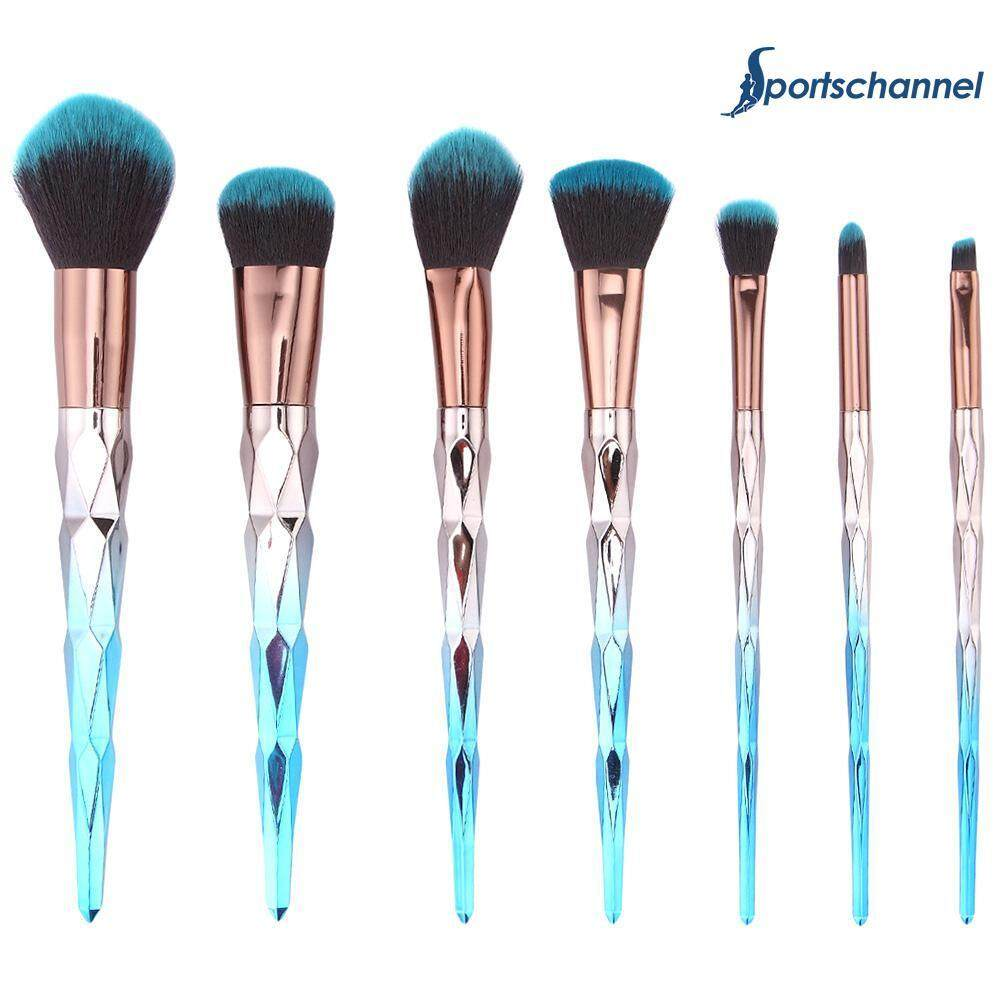 7pcs Diamond Handle Makeup Brushes Set Foundation Brush Kit Cosmetic Tool - Intl By Sportschannel.