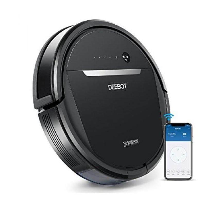 ECOVACS OZMO 601 Self-Charging Robot Mop & Vacuum Cleaner with Smart Phone App Controls, Auto-Clean Mode, 2 Specialized Cleaning Modes & Electronic Mopping System for Hard Floors & Thin Carpets - intl Singapore