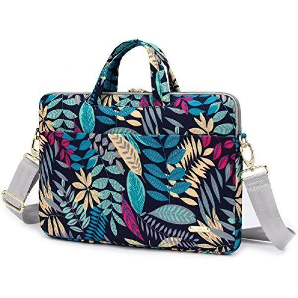 Laptop Shoulder Bags Aestee 14-15 Canvas Laptop Shoulder Messenger Bag Carrying Case Handbag Sleeve Briefcase For 15.6 Inch New MacBook Pro/Air,Acer,Dell, Hp,Sony,Lenovo Computer Laptop 2017,Colorful Leaves - intl