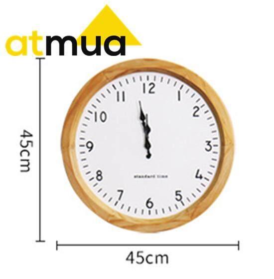 Atmua Nordic Wall Clock Wooden Clock Simple and Nice Clock