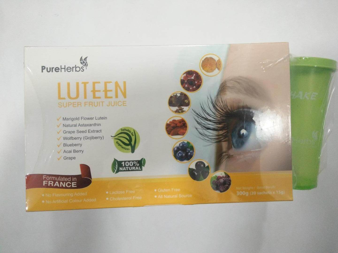 Pure Herb Luteen Super Fruit Juice 20 Sachets (Free Shaker)