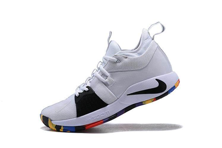 e8bd98680171 Nike Asli Paul George 2 Putih Beraneka Warna Pria Basketaball Sepatu PG-13  TS Penjualan