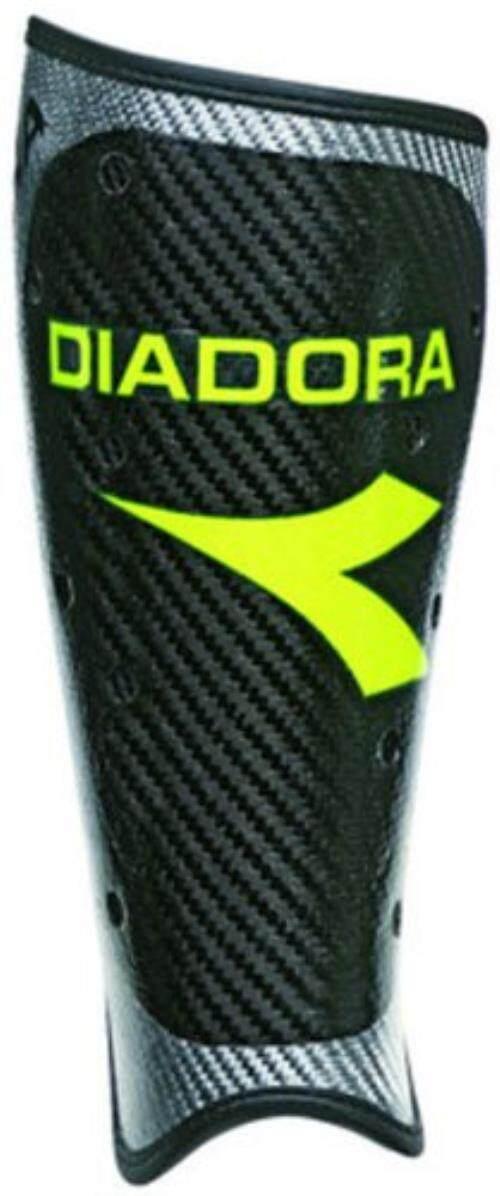 Diadora Gamma Carbinio Pelindung Betis (Medium, Hitam/Kuning)-Intl