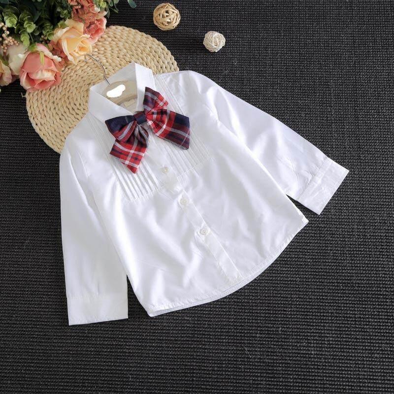 ... Wanita Pakaian Putih Blus Kotak-kotak Rok 2 Pcs Setelan Anak-anak untuk Sekolah ...