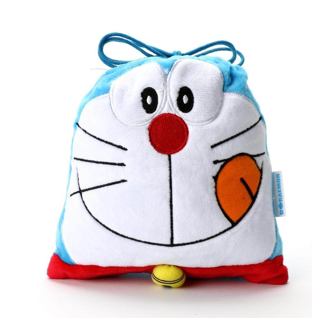[original] Doraemon Plush Drawstring Bag (fast Shipping) By Allcharacterstore.
