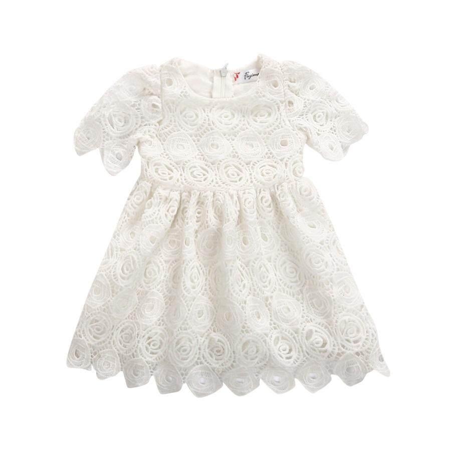 Bayi Balita Bayi Perempuan Renda Tutu Gaun Bunga Pesta Putri Gaun-Internasional