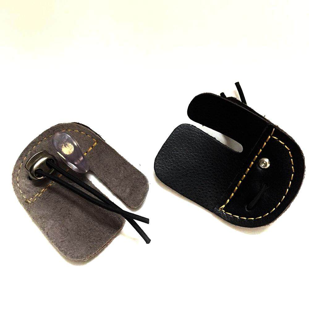 High Quality Bistratal Cow Leather Finger Tab Guard Protector For Right Hand Archery By Imart88.com.