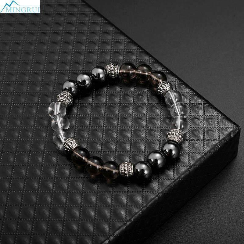 Mingrui Store Agate Crystal Glass Natural Stone Bracelet Hand Bracelet By Mingrui.