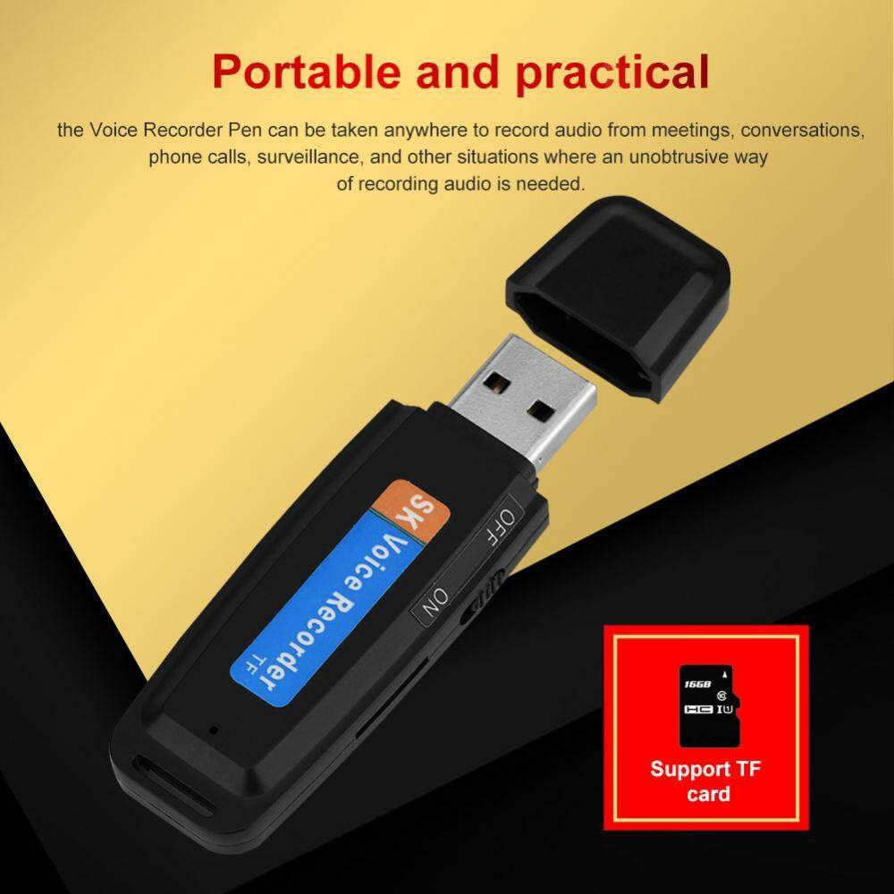 Voice Recorder U Disk Shaped Recorder USB 2.0 Digital Voice Recorder Flash Drive Mini Audio Recorder - intl