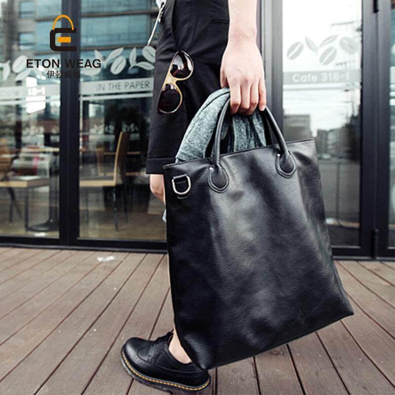 New Korean mens bag fashion multi-purpose bag shoulder bag Messenger bag casual bag mens bag handbag men bag - black