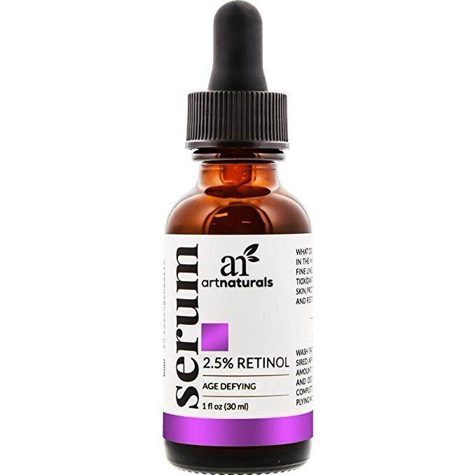 [ iiMONO ] ArtNaturals Enhanced Retinol Serum, 2.5% with 20% Vitamin C and Hyaluronic Acid, Best anti Wrinkle/Aging Serum for Face and Sensitive Skin, 1 oz.