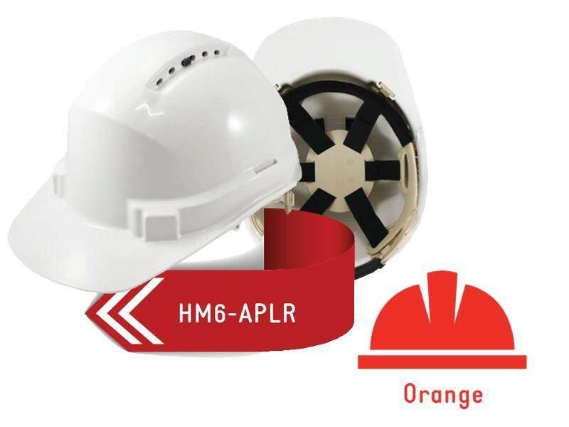 ISAF Industrial Safety Helmet c/w Ratchet Lock, Sweatband & Chinstrap - Orange