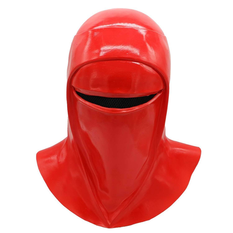 1 Pcs Baru Perang Bintang Kaisar Royal Guard Masker Cosplay Palpatine Kaisar Royal Guard Tentara Lateks Merah Topeng Helm Halloween