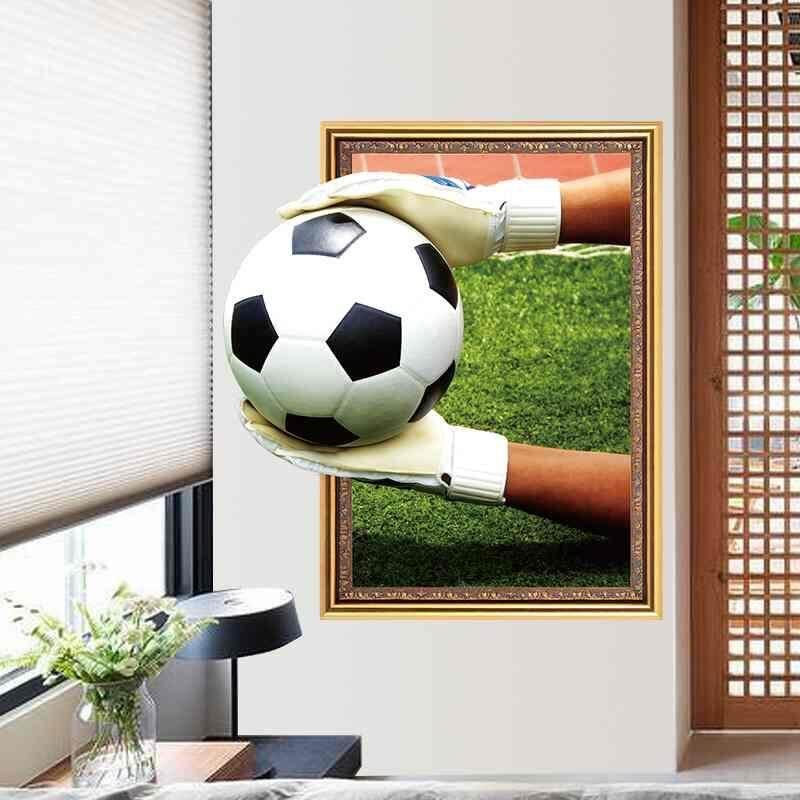Dxy 3D Stereo Stiker Ruang Tamu Latar Belakang Tahan Air Yang Dapat Dilepas Stiker Dinding Sepak